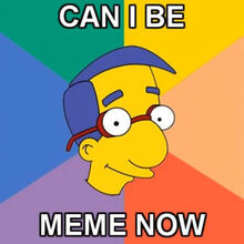 Can i be meme now Milhouse