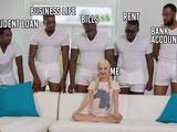 5 negros y 1 rubia