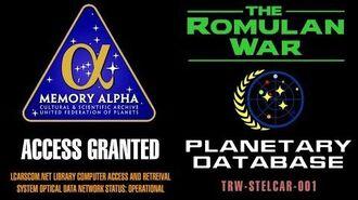 THE ROMULAN WAR Earth