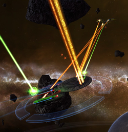Bajor fighting Orions at Ultima Thule