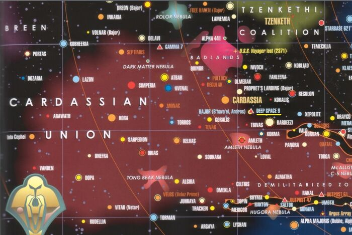 Station DS9 location
