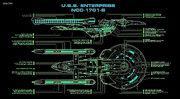 USS Enterprise-B Querschnitt