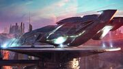 Vulcan cruiser landed