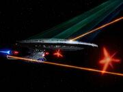 USS Enterprise-D feuert alle Waffen