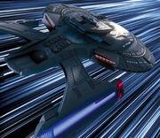 Die USS Titan im Warp