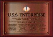 Galaxy USS Enterprise Dedication Plaques