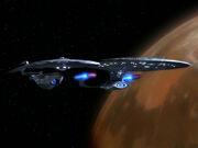 Hood with Enterprise-D