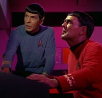 Scott and Spock, 2266