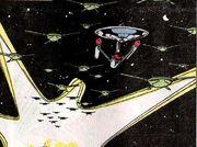 USS Enterprise and Tralmanii ships