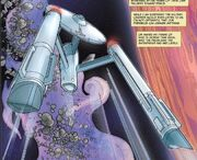 USS Enterprise orbits Magefferus 3