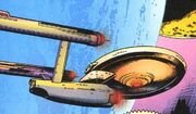 USS Enterprise orbiting Rigel VII