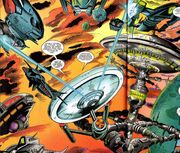 USS Enterprise defends Starbase 13