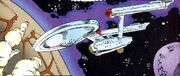 USS Enterprise orbits Beta Trilochus