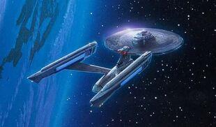 The refit USS Enterprise.