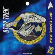 FanSets USS Enterprise-D pin packaged