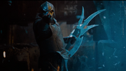 Klingon warrior with bat'leth, 2259