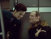 Michael Eddington with Jadzia Dax, 2372