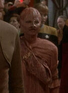 Pink-skinned bald alien on DS9 3