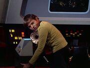 Chekov sammelt Daten über das orionische Schiff