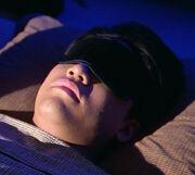 Harry Kim sleeps with mask