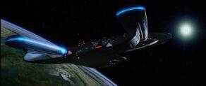 USS Enterprise-D in orbit of Veridian III.jpg