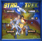 Bally Star Trek Pinball backglass