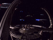 Federation-Klingon-Bajoran ships at DS9-1