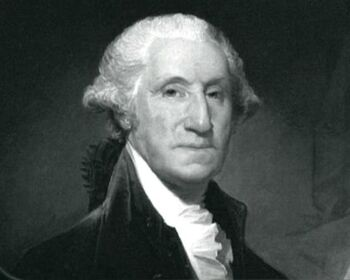 Painting of Washington as President.