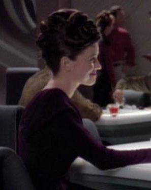 ...as Riker's date
