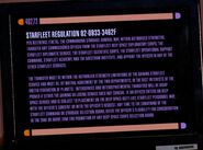 Starfleet transfer regulation detail 1
