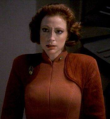 "Major Kira Nerys in <a href=""/wiki/2369"" title=""2369"">2369</a>"