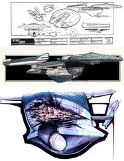 USS Enterprise NCC-1701-B design sketches by John Eaves