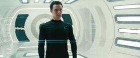 Khan in Starfleet uniform