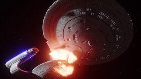 USS Odyssey critically damaged