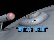 3x06 Spock's Brain title card