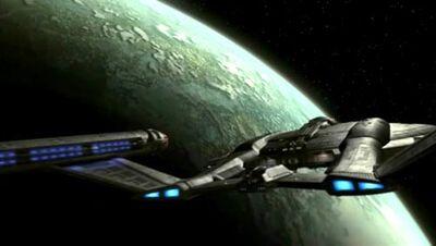Enterprise NX-01 im Orbit von Coridan