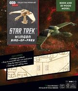 IncrediBuilds Klingon Bird-of-Prey Book and 3D Wood Model