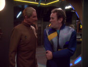 Odo and Miles O'Brien, 2374