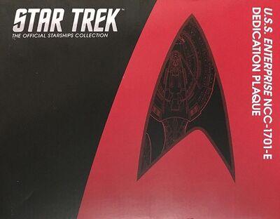 Raumschiffsammlung verpackte Widmungsplakette Enterprise (NCC-1701-E)