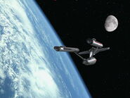 USS Enterprise in orbit of Earth