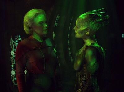 Admiral Janeway und die Borgkönigin