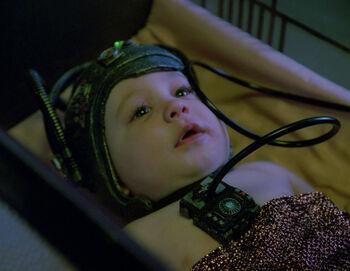 ...as a Borg infant