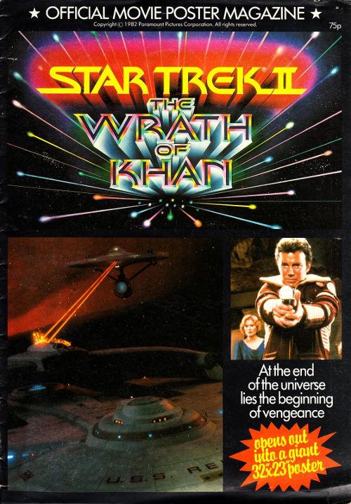Star Trek II Official Movie Poster Magazine cover