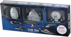 Eaglemoss Voyager Defiant Excelsior 3-pack