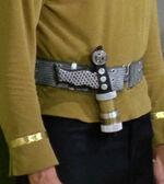 Laser pistol on belt