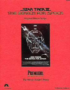 Star Trek III The Search for Spock – Original Movie Script