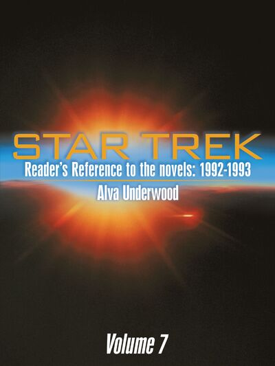 Star Trek Readers Reference to the Novels 1992-1993