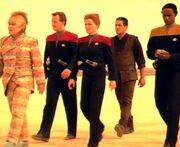 Voyager away team
