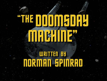 The Doomsday Machine title card