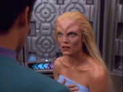 Bashir tells Melora she can't use zero gravity